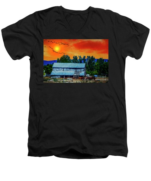 On The Farm II Men's V-Neck T-Shirt