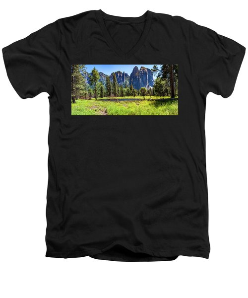 On The Floor Of Yosemite Men's V-Neck T-Shirt