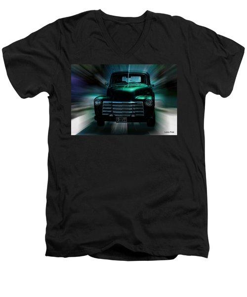 On The Move Truck Art Men's V-Neck T-Shirt