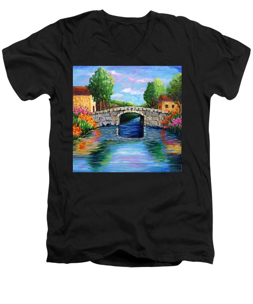 On The Other Side Of The Bridge Men's V-Neck T-Shirt