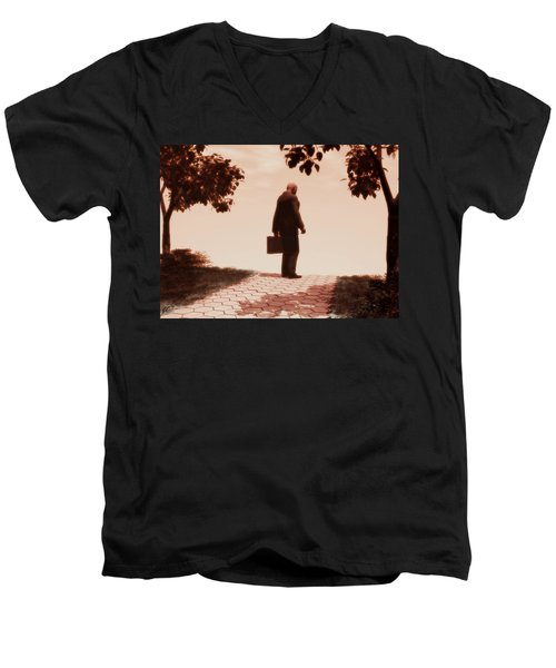 On The Path To Nowhere Men's V-Neck T-Shirt