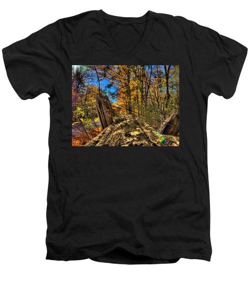 On The Rail Men's V-Neck T-Shirt