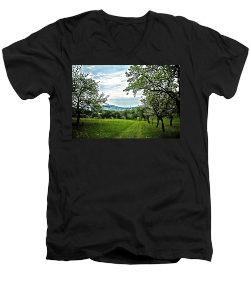 On The Way To Gramastetten ... Men's V-Neck T-Shirt by Juergen Weiss