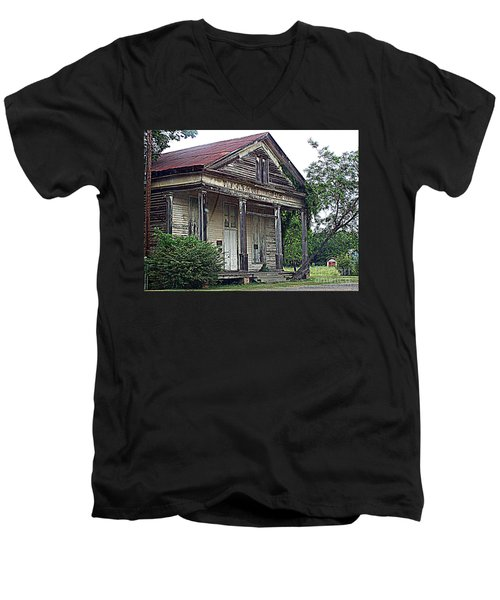 Once Upon A Store Men's V-Neck T-Shirt by Kathy  White