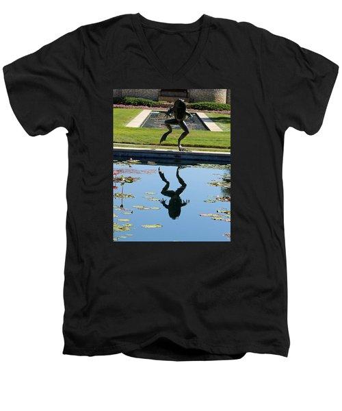 One Giant Leap Men's V-Neck T-Shirt