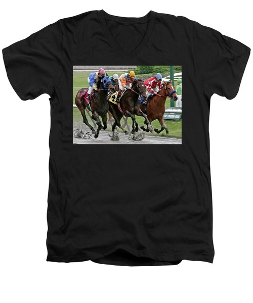 One Hoof Down Men's V-Neck T-Shirt