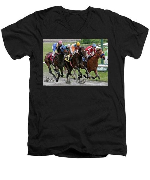 One Hoof Down Men's V-Neck T-Shirt