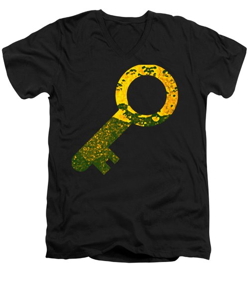 One Key One Heart Men's V-Neck T-Shirt