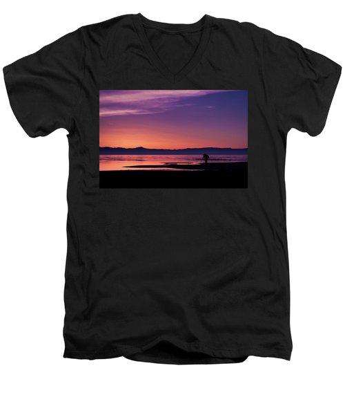 One More Shot Men's V-Neck T-Shirt by Ralph Vazquez