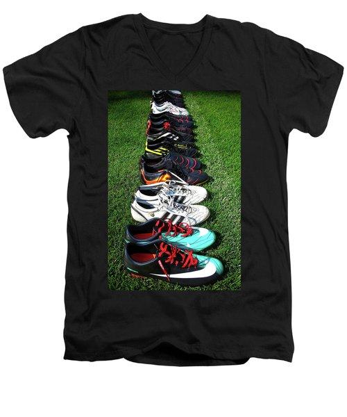 One Team ... Men's V-Neck T-Shirt by Juergen Weiss