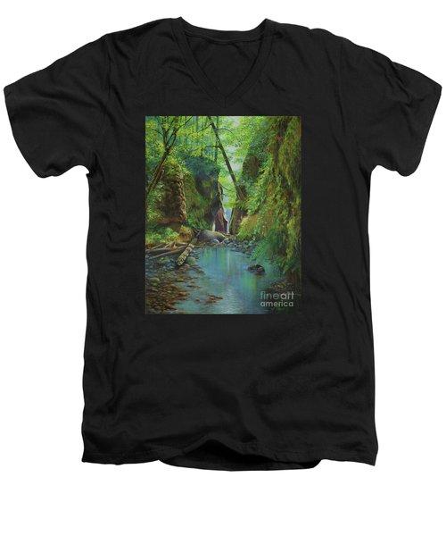 Oneonta Gorge Men's V-Neck T-Shirt
