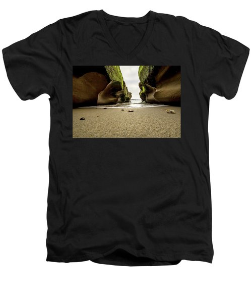 Only At Low Tide Men's V-Neck T-Shirt by Ryan Weddle
