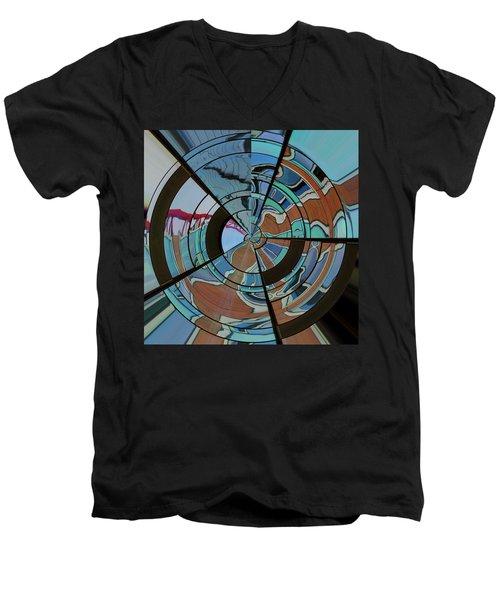 Op Art Windows Orb Men's V-Neck T-Shirt