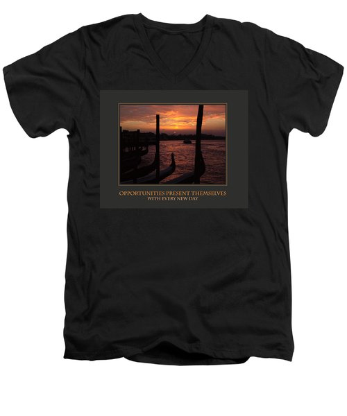 Opportunities Present Themselves With Every New Day Men's V-Neck T-Shirt by Donna Corless