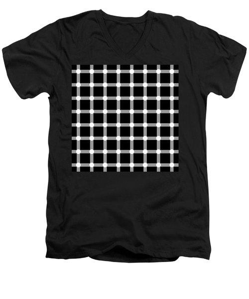 Optical Illusion The Grid Men's V-Neck T-Shirt