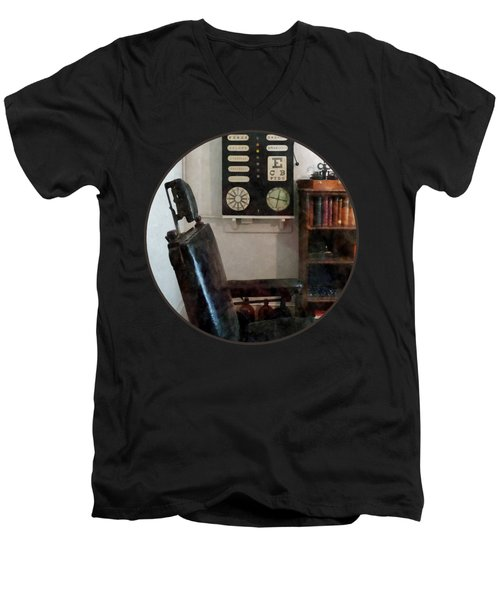 Optometrist - Eye Doctor's Office With Eye Chart Men's V-Neck T-Shirt by Susan Savad