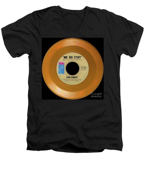 Men's V-Neck T-Shirt featuring the photograph Orange 45 by Martin Konopacki