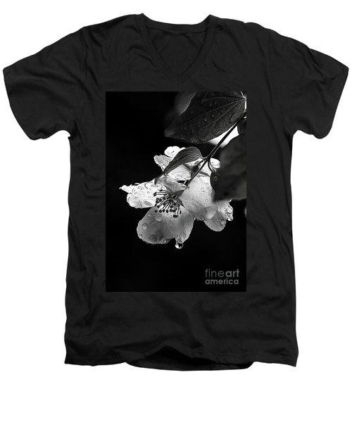 Orange Blossom Men's V-Neck T-Shirt by Elaine Hunter