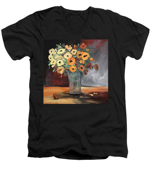 Orange Blossoms Men's V-Neck T-Shirt by Terri Einer