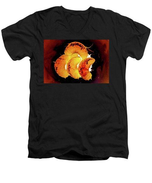 Orange Choc Men's V-Neck T-Shirt