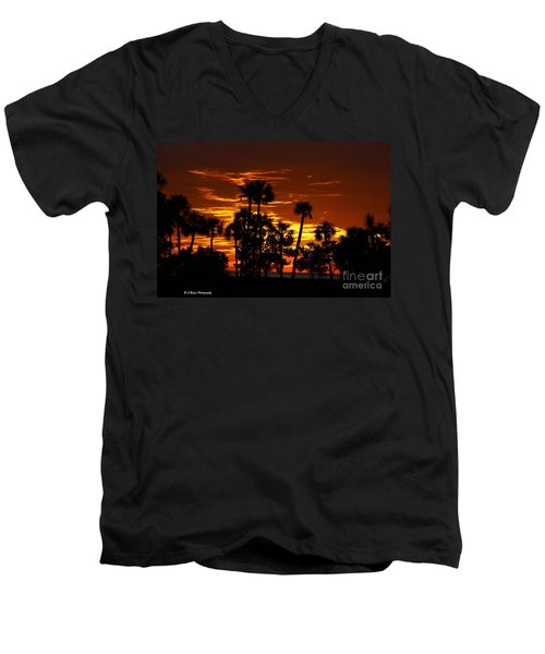 Orange Skies Men's V-Neck T-Shirt