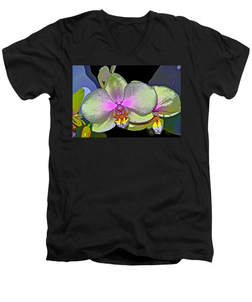 Orchid 2 Men's V-Neck T-Shirt