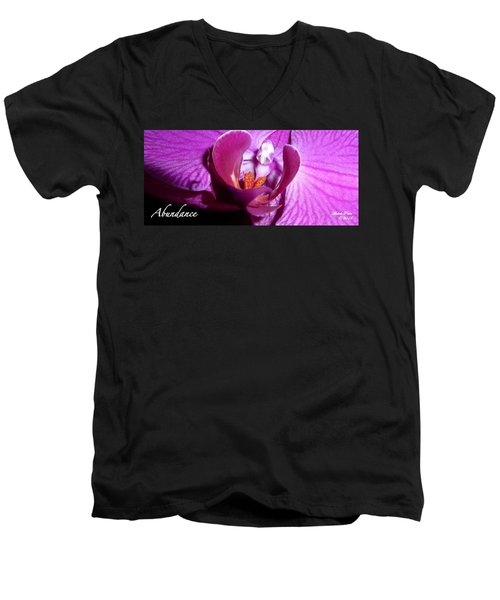 Orchid Abundance Men's V-Neck T-Shirt