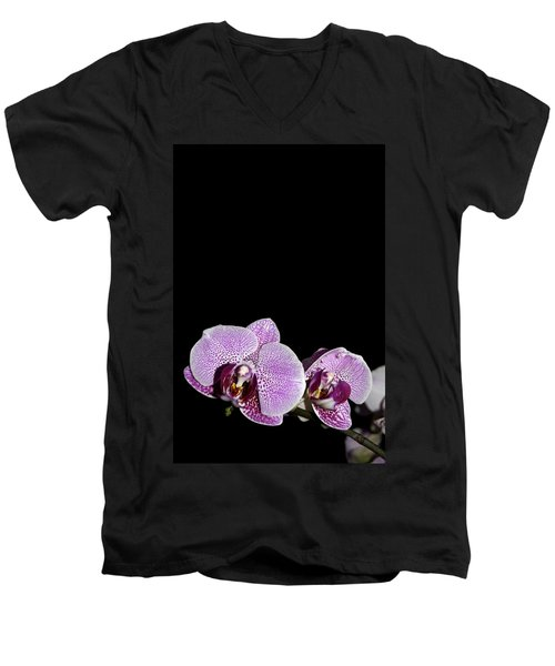 Orchid Blooms Men's V-Neck T-Shirt