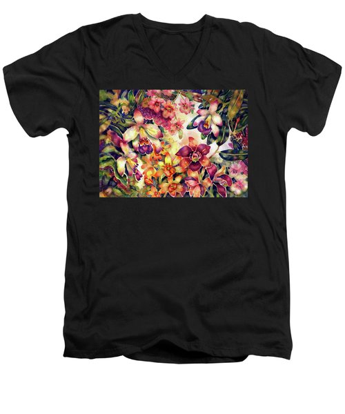Orchid Garden II Men's V-Neck T-Shirt