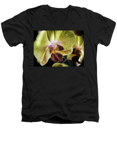 Orchid With A Tongue Men's V-Neck T-Shirt