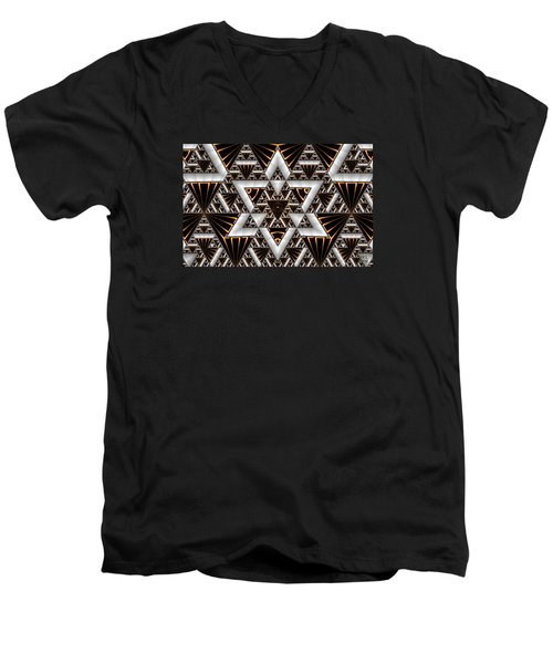 Order And Chaos Men's V-Neck T-Shirt by Manny Lorenzo