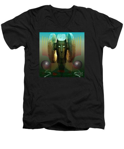 Order And Serenity Men's V-Neck T-Shirt by Rosa Cobos