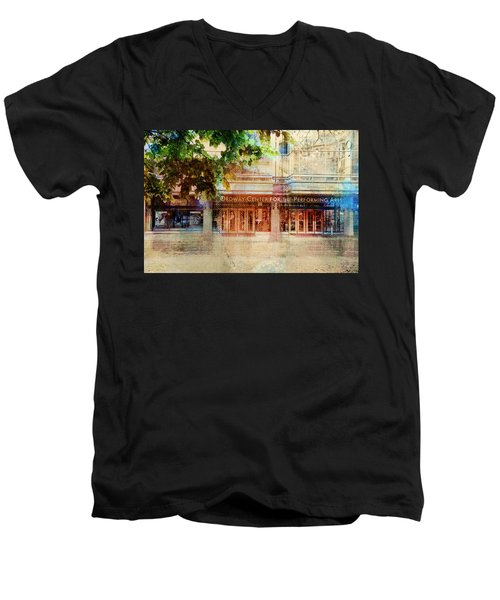 Ordway Center Men's V-Neck T-Shirt by Susan Stone