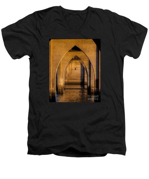 Oregon Bridge 1 Men's V-Neck T-Shirt