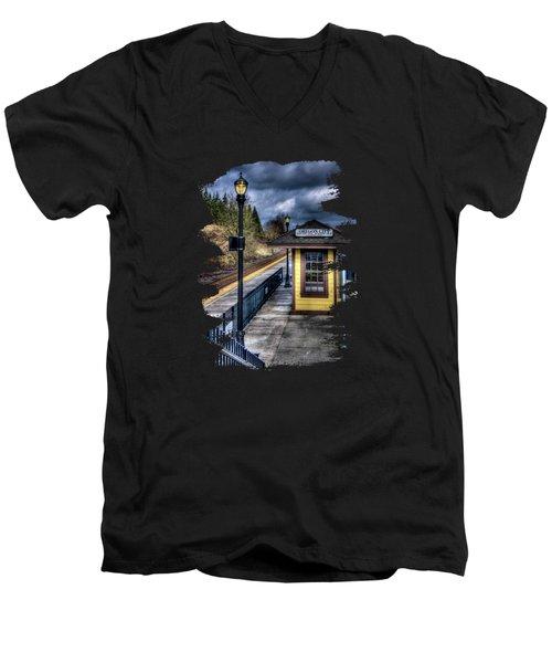 All Aboard  Men's V-Neck T-Shirt