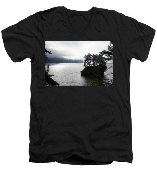 Oregon Coast Fog Men's V-Neck T-Shirt