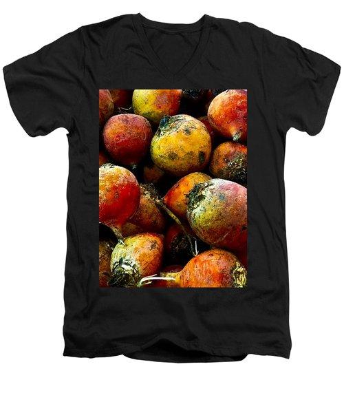Organic Beets Men's V-Neck T-Shirt