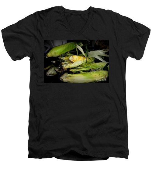 Organic Corn Men's V-Neck T-Shirt