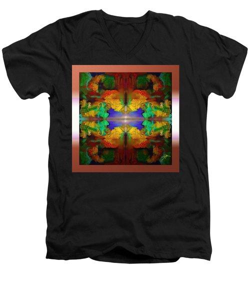Oriental Gardens  Men's V-Neck T-Shirt