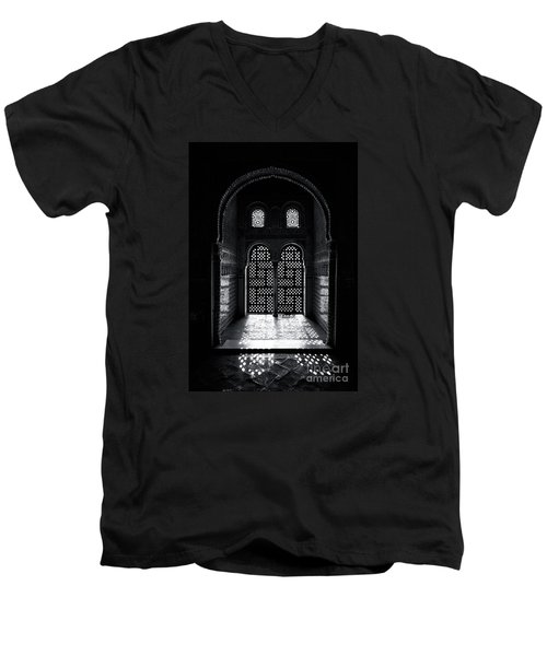 Ornate Alhambra Window Men's V-Neck T-Shirt