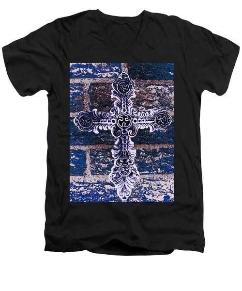 Ornate Cross 2 Men's V-Neck T-Shirt