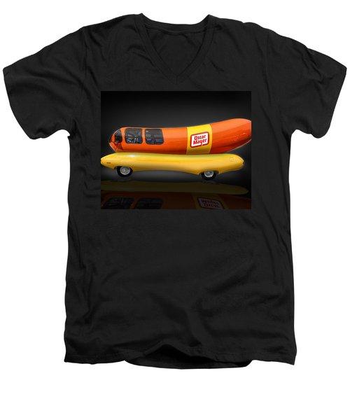 Oscar Mayer Wiener Mobile Men's V-Neck T-Shirt by Gary Warnimont