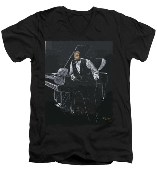 Oscar Peterson Men's V-Neck T-Shirt