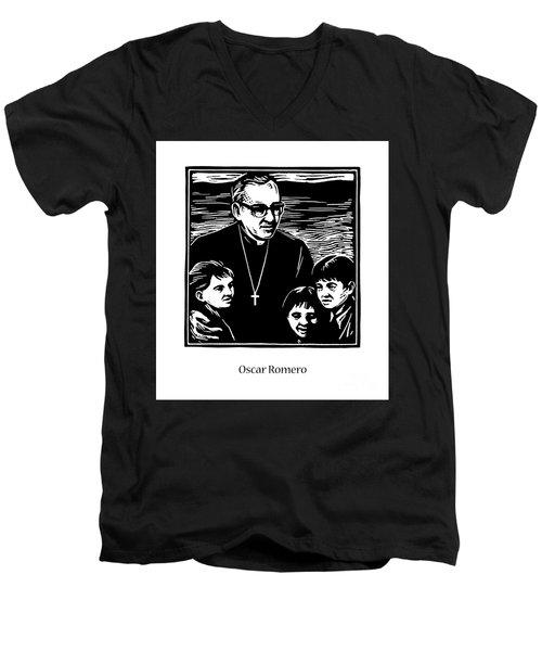 St. Oscar Romero - Jlosc Men's V-Neck T-Shirt