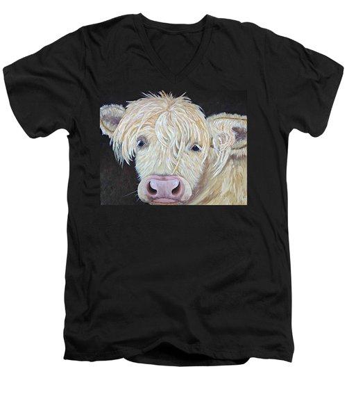 Oscar Men's V-Neck T-Shirt by T Fry-Green
