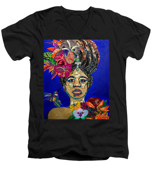 Oshun Blooming Men's V-Neck T-Shirt