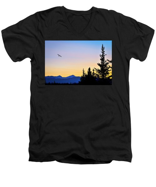 Osprey Against The Sunset Men's V-Neck T-Shirt
