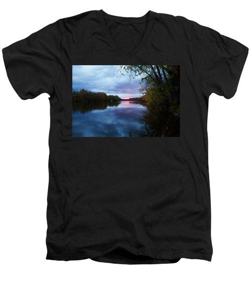Oswego River Men's V-Neck T-Shirt