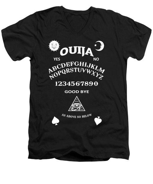 Men's V-Neck T-Shirt featuring the digital art Ouija by Nicklas Gustafsson