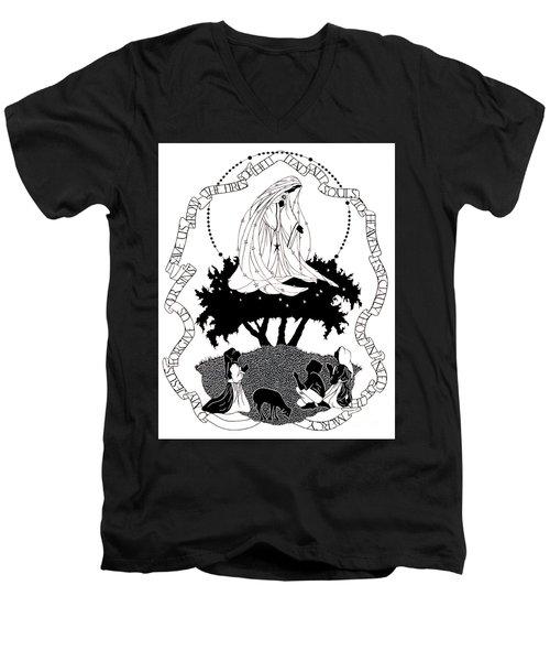 Our Lady Of Fatima - Dpolf Men's V-Neck T-Shirt